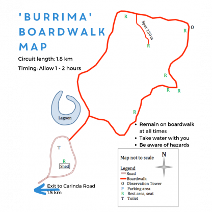 'Burrima' boardwalk map